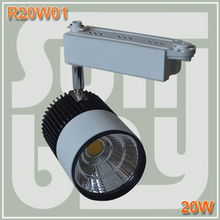 Free shiping LED track light 20W COB high lumens high quality commercial light rail lamp(China (Mainland))