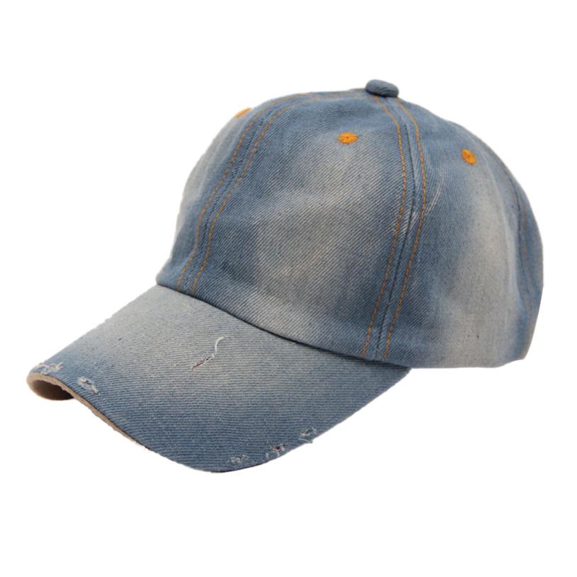 Brand new 2015 Fashion Men's Women's Jean Sport Hat Casual Denim Baseball Cap Sun Hat(China (Mainland))