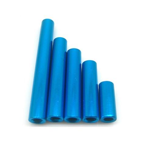 Length 22mm Diameter 5mm Aluminium Round Standoffs Blue Female Spacer / Nuts Threads M3 Pitch 0.5 mm Metric Fastener Light Hard<br><br>Aliexpress