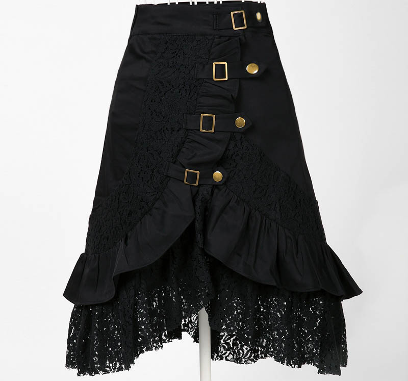 Black Urban Clothing Designers female black skirt steampunk