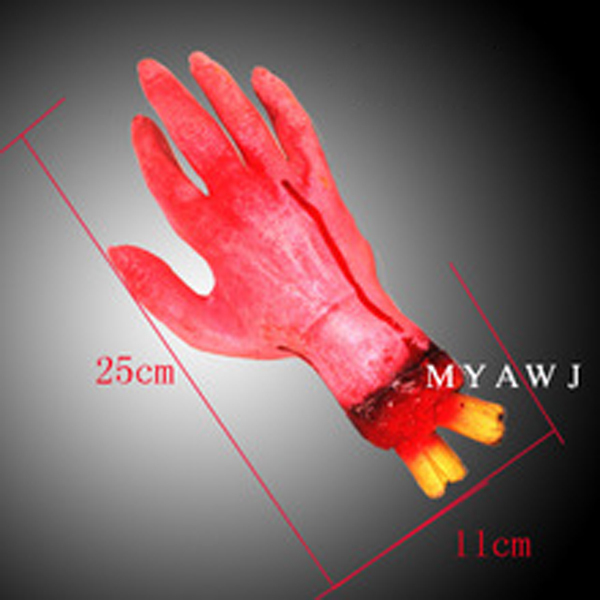 Scary Bloody Blood Fake Latex Hand Decoration for Halloween Props Costume New(China (Mainland))