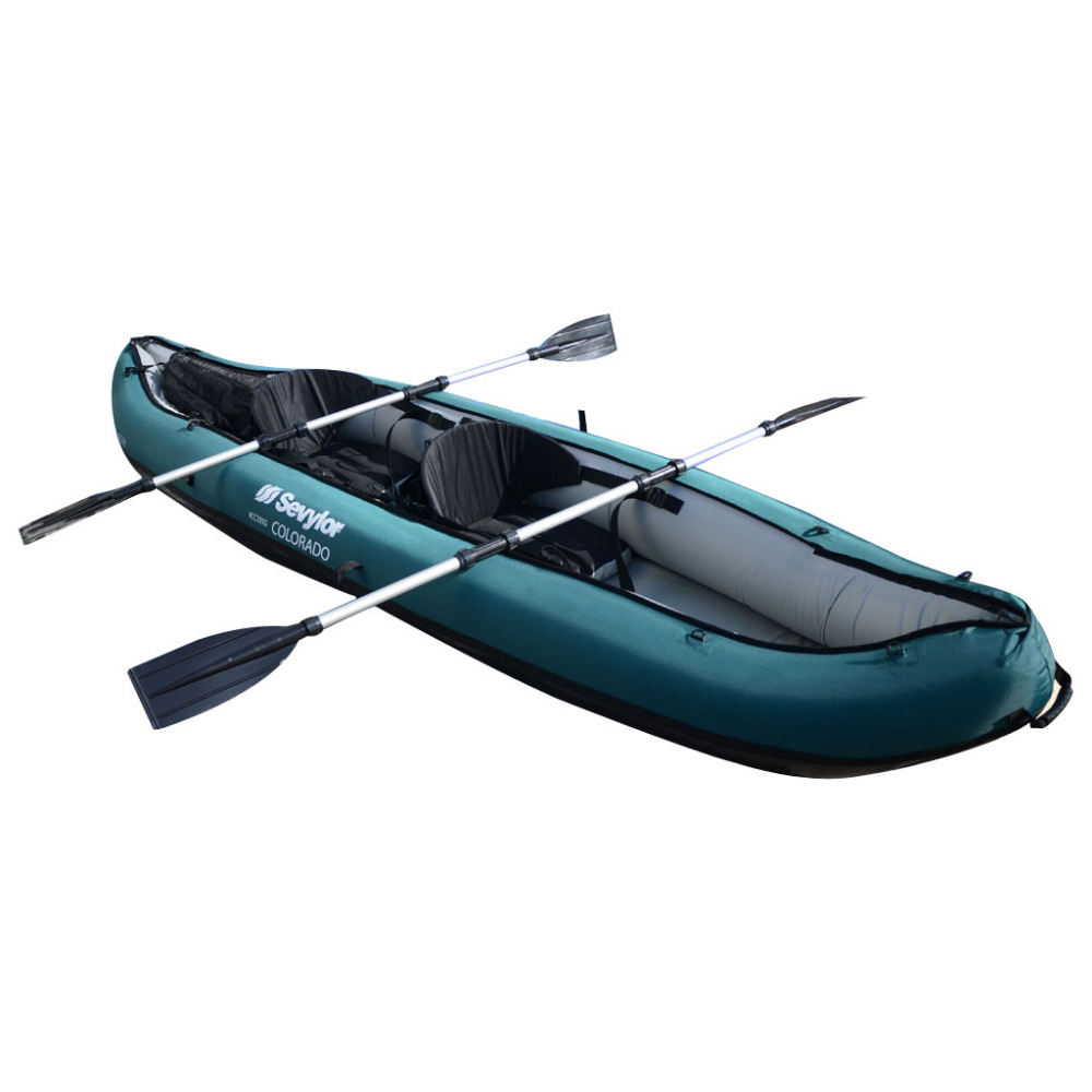 2 Person Inflatable Fishing Boat Kayak Canoe With Nylon Coat Oars Pump For Drifting Surfing Sandbeach inflatable kayak(China (Mainland))