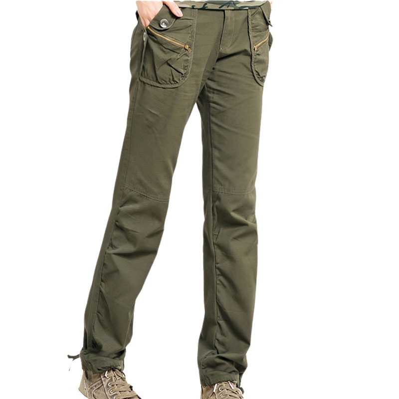 Beautiful Women39s Army Cargo Pants Straight Pants Trousers Fashion RED