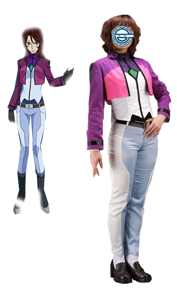 Gundam00 Celestial Being Sumeragi Lee Noriega Uniform Anime Cosplay Costume