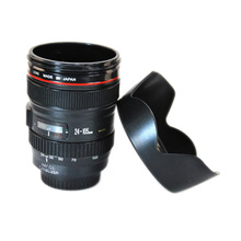 New Fashion Camera Lens Cup 24-105mm 1:1 Scale Special Present Plastic Milk Beer Coffee Tea Mug Cup Creative Cups and Mugs(China (Mainland))