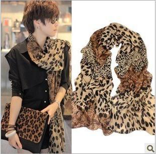 ( Минимальный заказ $ 10 ) шелк шали обруча шарфы шелковистой ретро классический леопард тень искусственного