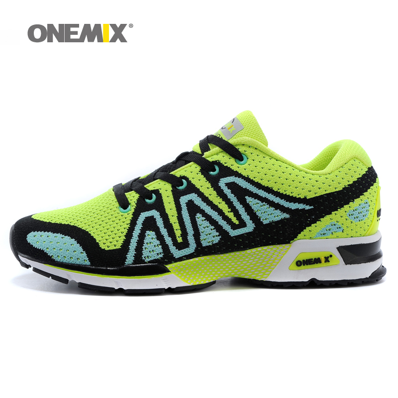 ONEMIX Mens Running Shoes 2016 New Chaussures pour hommes Knitting Women's Athletic Shoes Fashion Outdoor Walking Sport Shoes(China (Mainland))