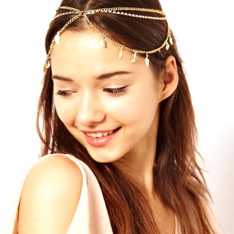 2015 Hot Selling Women Boho Bohemian Headbands Head Chain Metal Wedding Forehead Hair Jewelry Accessories piece - Suzhou Babyonline Dress Store store