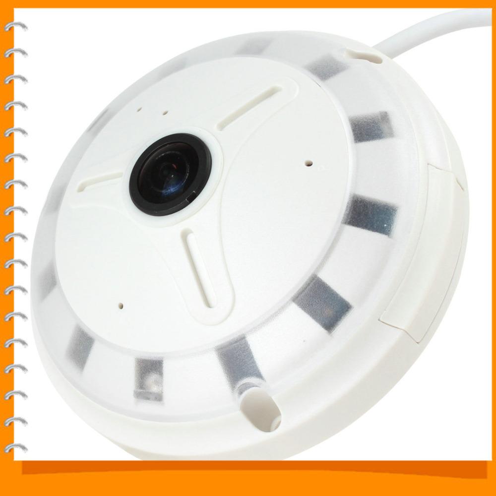 ESCAM QP130 1.3MP 360 Fish Eye IP Camera Security Fisheye IP Network Camera H.264 Onvif P2P Day / Night Camera Support SD Card(China (Mainland))