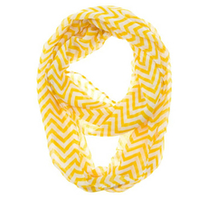 New Design Women Infinity Chevron Zig Zag Color Block Double Loop Sheer Scarf Wrap free shipping!(China (Mainland))