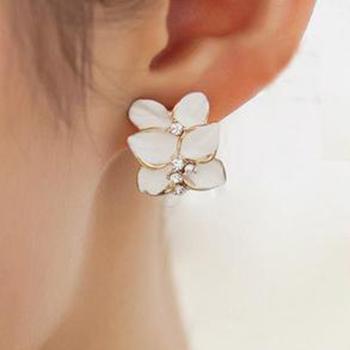 Винтажный цветок серьги-гвоздики для женщины Romatic кристалл лето серьги черный ...