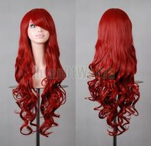 32 Inches Long Cosplay Dark Red Wigs Ladies' Curly Wigs 80cm (NWG0CP60817-DR2)(China (Mainland))