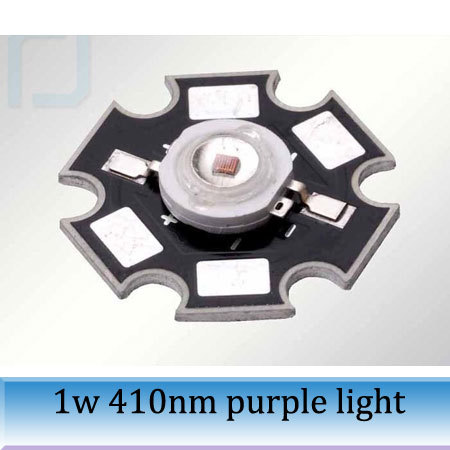 20pcs 1W super bright lighting 405-410NM violet high-power LED purple light 7-12Lm/W with aluminum plate<br><br>Aliexpress