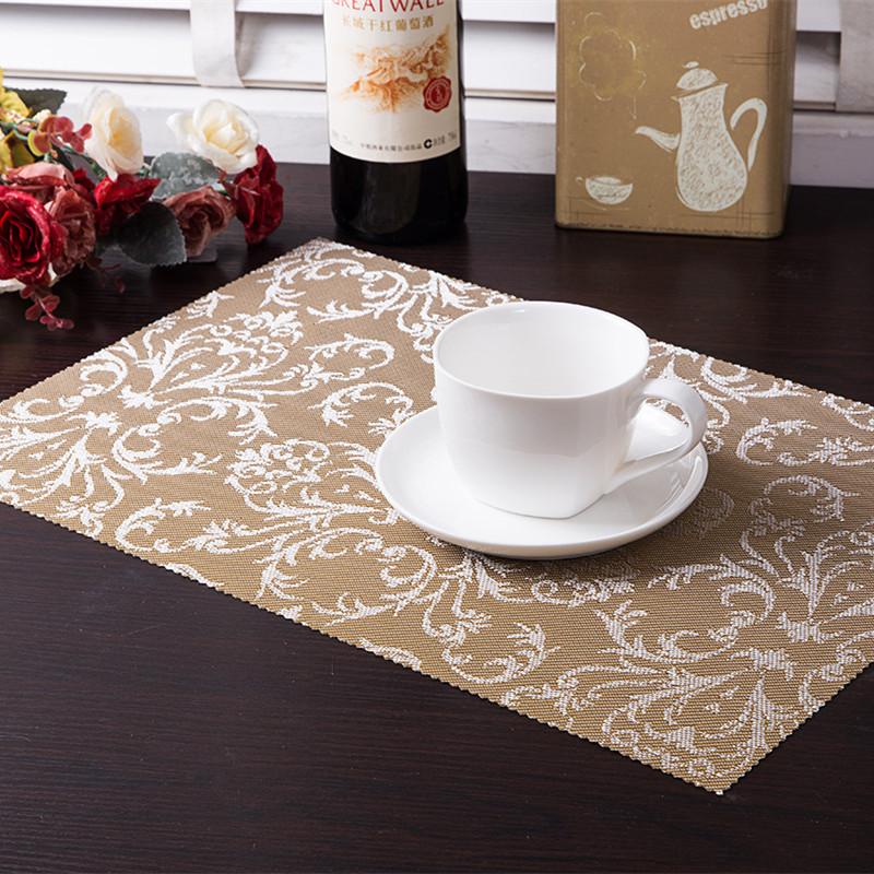 4 pcs/Lot PVC Placemat Dining Tables Mats Bar Mat waterproof kitchen accessories dining table mat bowl pad Table Decoration(China (Mainland))