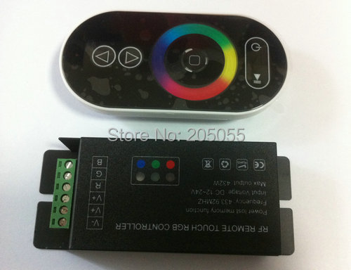 Wireless RF remote RGB touch led controller Dimmer DC12-24V power lost memory function for 5050SMD led strip(China (Mainland))