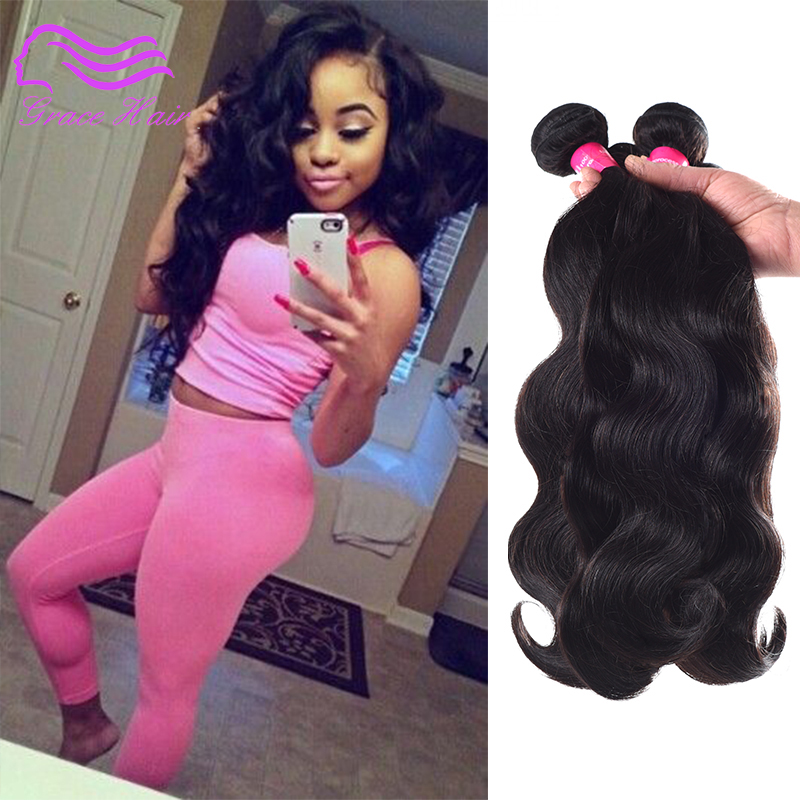 Ali Queen Hair Products Malaysian Body Wave 4 Bundles,6A Unprocessed Malaysian Body Wave Virgin Hair(China (Mainland))