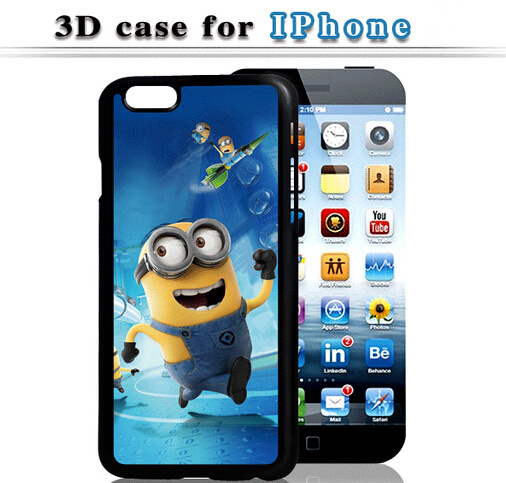 HOT ! 3D Fashion Despicable Yellow Minions Design Pattern hard cover case Apple iphone 4 4s 4G phone cases shell