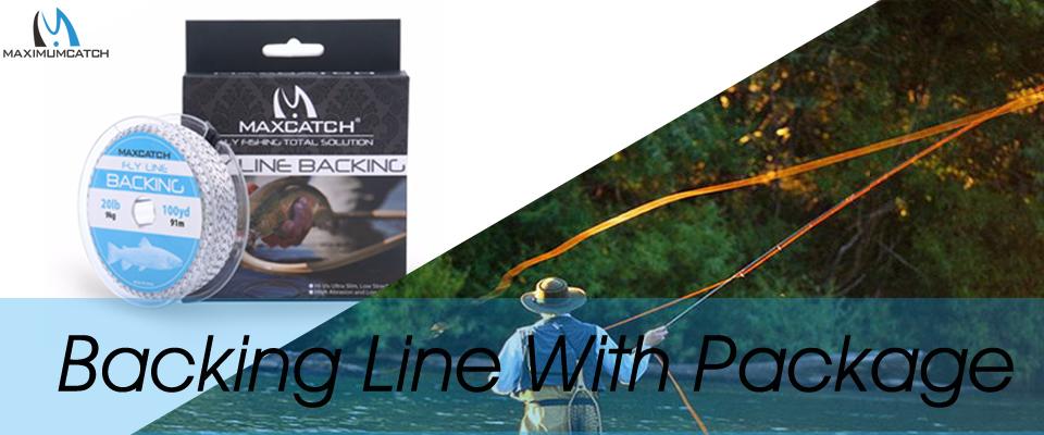 Maximumcatch 2 pcs 20lb backing fly fly fishing line for Fly fishing backing