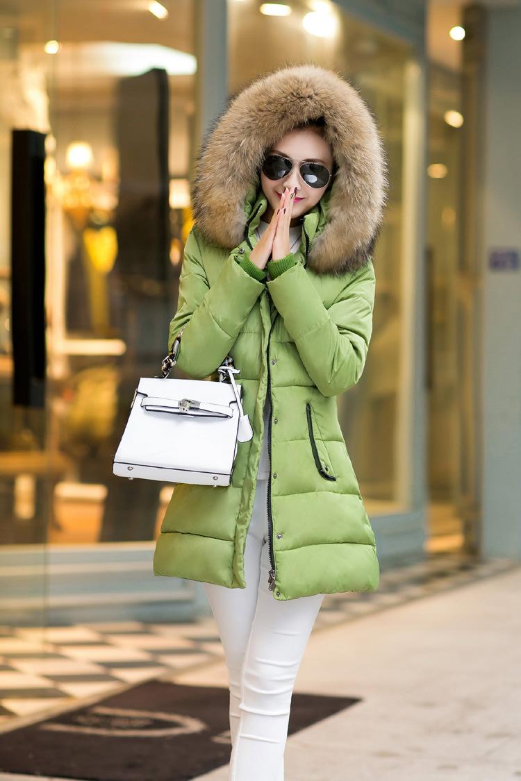 Hot Warm Jacket Coat Woman Winter Jackets Women New 2015 Detachable Fur Collar Outwear , JD002