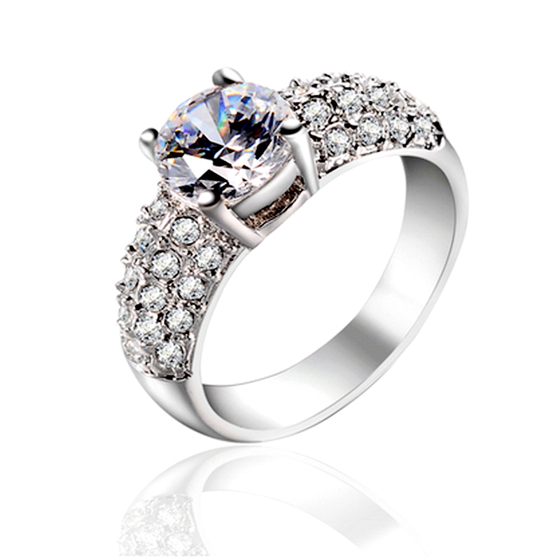 two 2 carats real 925 sterling silver eternal luxury