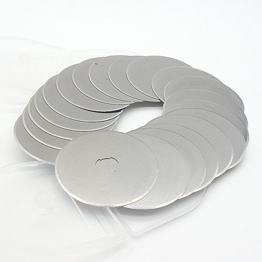 2 Rotary Cutter 45mm Refill Blade Cutters Sewing Quilting Photos Fits Fabric vinyl Olfa Fiskars Cutting Craft Tools - Albert International Co.,Ltd store
