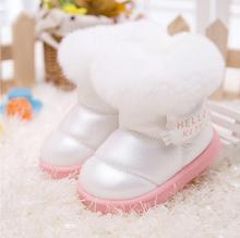 2016 new fashion Kids Children's shoes shiny fur warm winter boots snow boost Baby shoes Girls cotton padded Toddler baby's(China (Mainland))