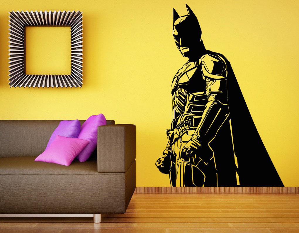 C180 Batman Wall Decal Vinyl Sticker The Dark Knight Superhero Atr Home Decor(China (Mainland))