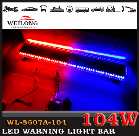 Free shipping! CE approved, 1W LED police lightbar, 12Vor 24Vamber white and red blue warning light bar(China (Mainland))