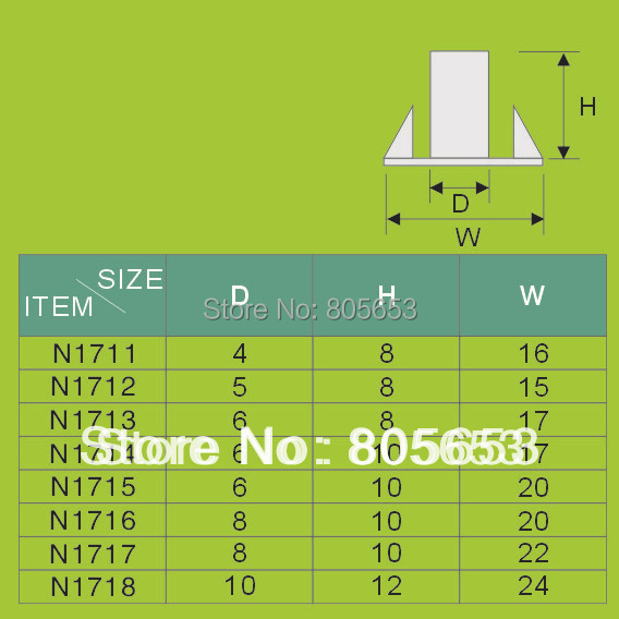 High quality furniture fitting stainless steel tee nut (N1715)