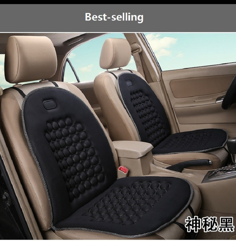 Newest 1 Pcs Car Truck Van Mpv Massage Vehicles Seat Cushion Pure Black Color Seat Pad for hello kitty car seat covers(China (Mainland))