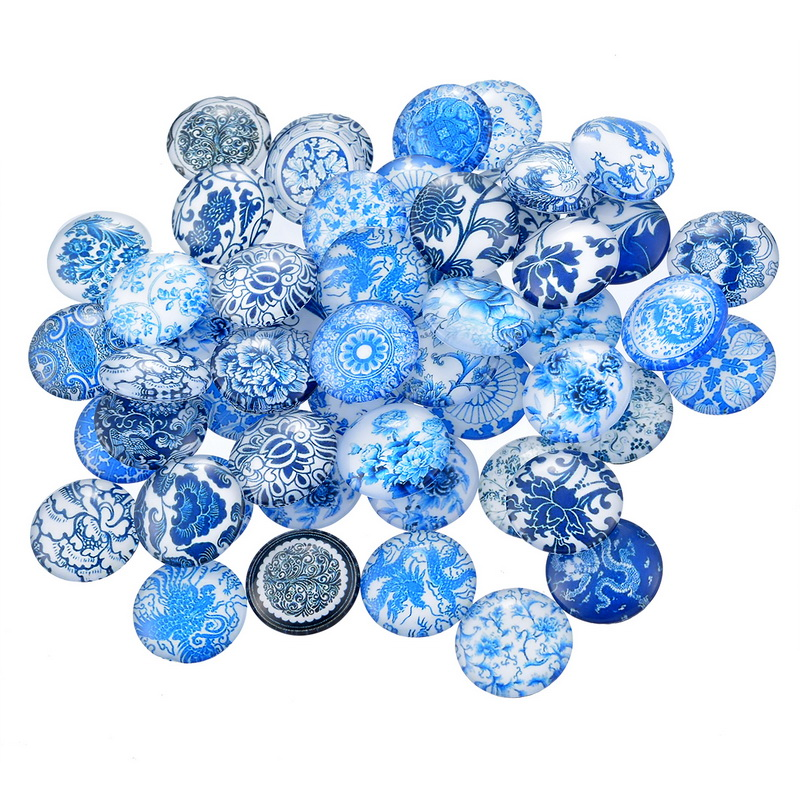 Fine Jewelry Round Multi-Pattern Glass Cabochons Dome Flatback Findings Randomly Mixed Fit DIY Accessories 20mm 10PCs(China (Mainland))