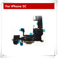 High quality New Headphone Audio Jack Dock Charger Connector Flex Cable for iPhone 5C Replacement Repair Parts free shipping