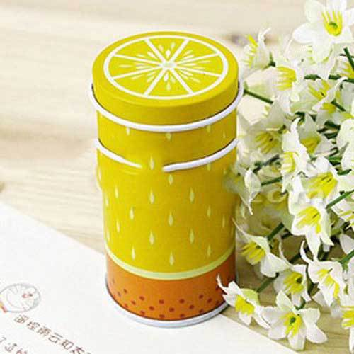 Apalachian Fresh Fruit Cylinder Mini Storage Tea Box Coffee Tin(China (Mainland))
