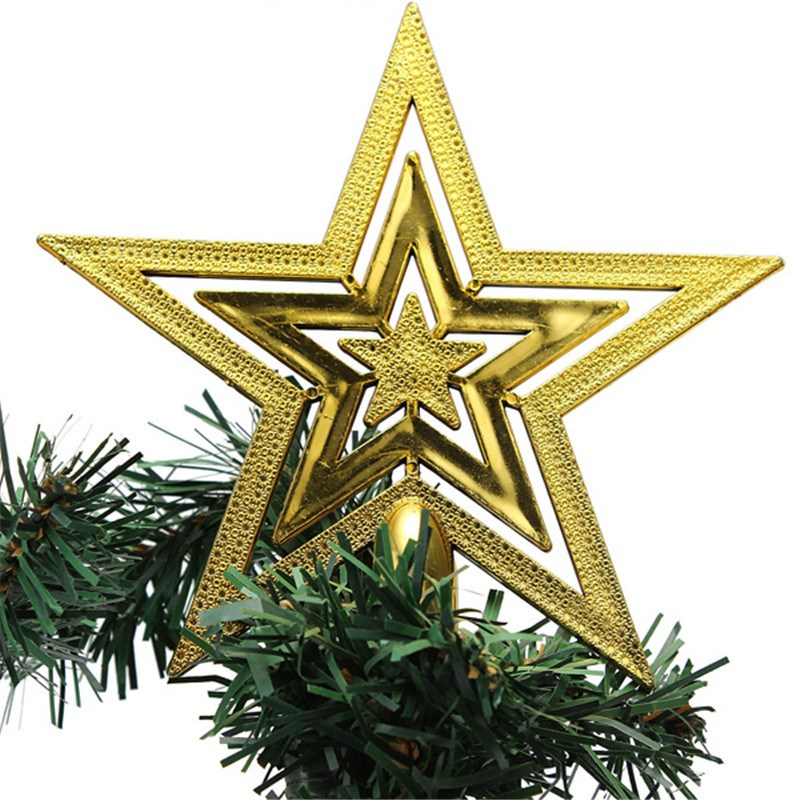 Star On The Christmas XMAS Tree Ornament Topper Top Pendant Decorations Gift 15cm x 15cm Elegant Decoration(China (Mainland))