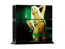 Ps4 skin Smoking girl PVC Skin For Playstaion 4 Console PS4 Skin Stickers+ Controllers Protective sticker