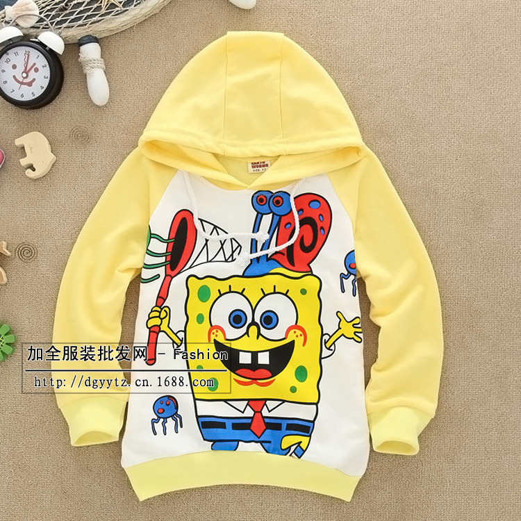 Free shipping 2014 new fashion boy's clothes gift Children's clothing female child autumn long-sleeve sweatshirt umbrella kitten(China (Mainland))