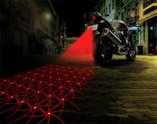 Waterproof Motorcycle Fog Lights Cool Motorbike Tail Light Motorcycle Rear Car Laser Brake Turn Bulb Accessories Car styling