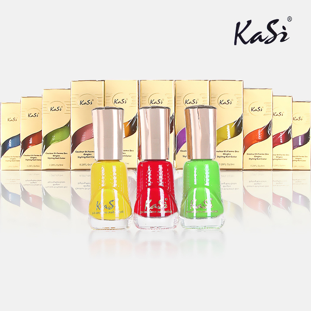 Kasi nail polish oil water based eco-friendly multicolour nail polish oil 1 - 22 8ml