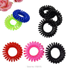 Crystal Telephone Line Elasticity Rubber Hair Band Tie Hair Accessory Fashion Women Headwears Drop Shipping