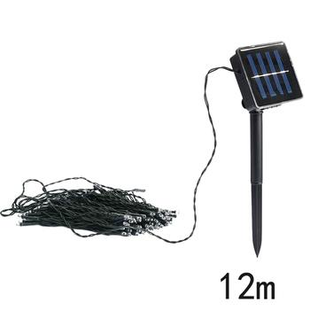 #Cu3 Newest 12M Solar 100 LED String Fairy Light Party Outdoor Garden Christmas