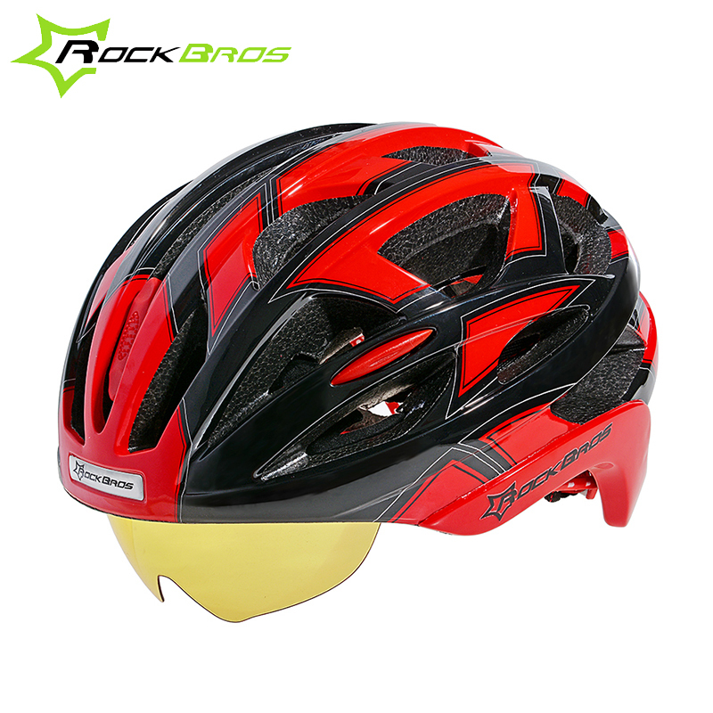 HOT!RockBros Bicycle Cycling Helmet EPS+PC Material Ultralight Mountain Bike Helmet 32 Air Vents With 3 Lenses SIZE:56-62cm<br><br>Aliexpress