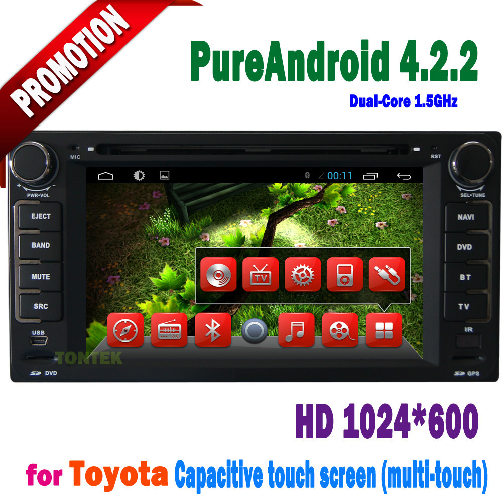 6.2 inch android 4.2.2 AUX GPS 3g/wifi bluetooth universal car dvd for Toyota Corolla 2006 2005 2004(China (Mainland))