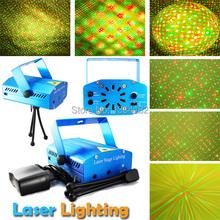 Новый 100 МВт мини красный зеленый перемещение ну вечеринку этапа лазерный луч со штативом лазерный DJ ну вечеринку диско свет бесплатная доставка