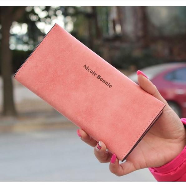 New 2015 PU Leather Women Wallet Long Carteira Feminina Multi-Card Clutch Thin Wallets Card Holder Change Purse(China (Mainland))