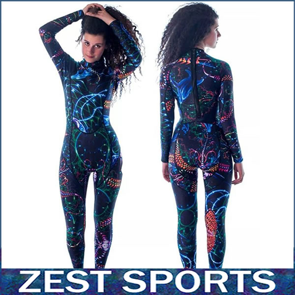 Фотография High quality,3mm thick women long-sleeved printing wetsuit,Individuality surf clothing, fall and winter, Neoprene,swimsuit