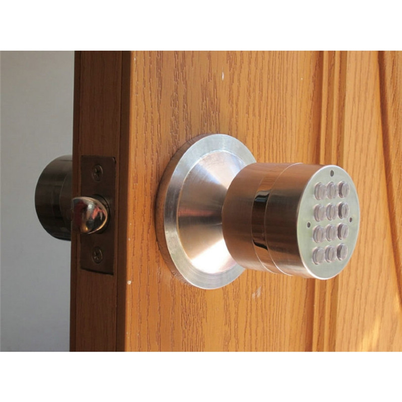 Electric Code Ball Door Lock Digital Electronic Password Ball Lock Smart Entry lk919BS(China (Mainland))