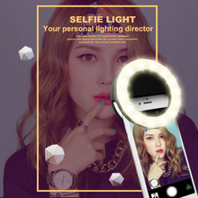 Buy New Fashion Rechargeable selfie ring light Clip LED selfie flash light adjustable lamp selife fill-light RK14 Smart phone for $7.10 in AliExpress store