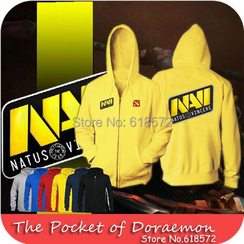 2014 yellow Exclusive design Ukraine NAVI DOTA 2 Bunch of Heroes teams man hoodies autumn fleece tracksuits jacket plus size(China (Mainland))