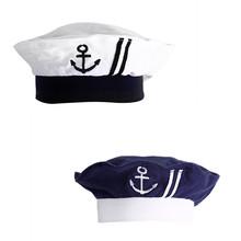 2016 Baby Hat Children's Navy Sailors Hats Boy Girls Wear Hats Caps 0--1 Years Old Retail(China (Mainland))