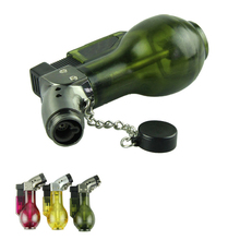 Top Quality Voberry Windproof Angle Jet Flame Refillable Torch Cigar Lighter in Assorted Color with Flame Cap